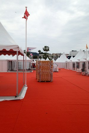 setting up at cannes film festival